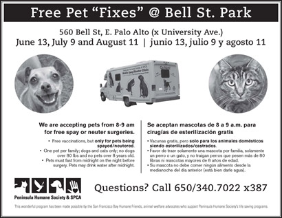 Promo on free mobile spay/neuter clinic