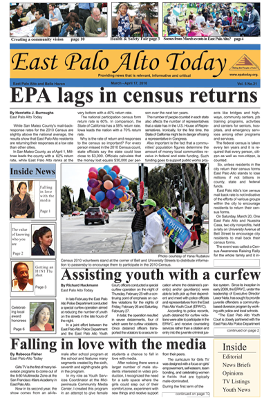 Cover page for March to April 17, 2010