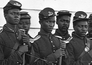 Photo of Black Civil War Soliders