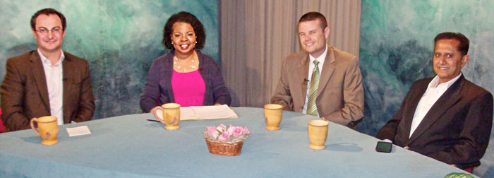 Photo of participants in the Talking with Henrietta show on cybercrime