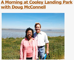 Photo of Henrietta J. Burroughs and Doug McConnell at Cooley Landing Park
