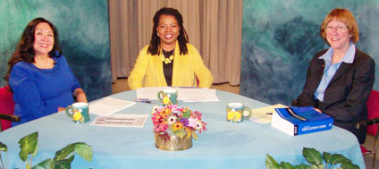 Show photo from TV discussion on charter schools